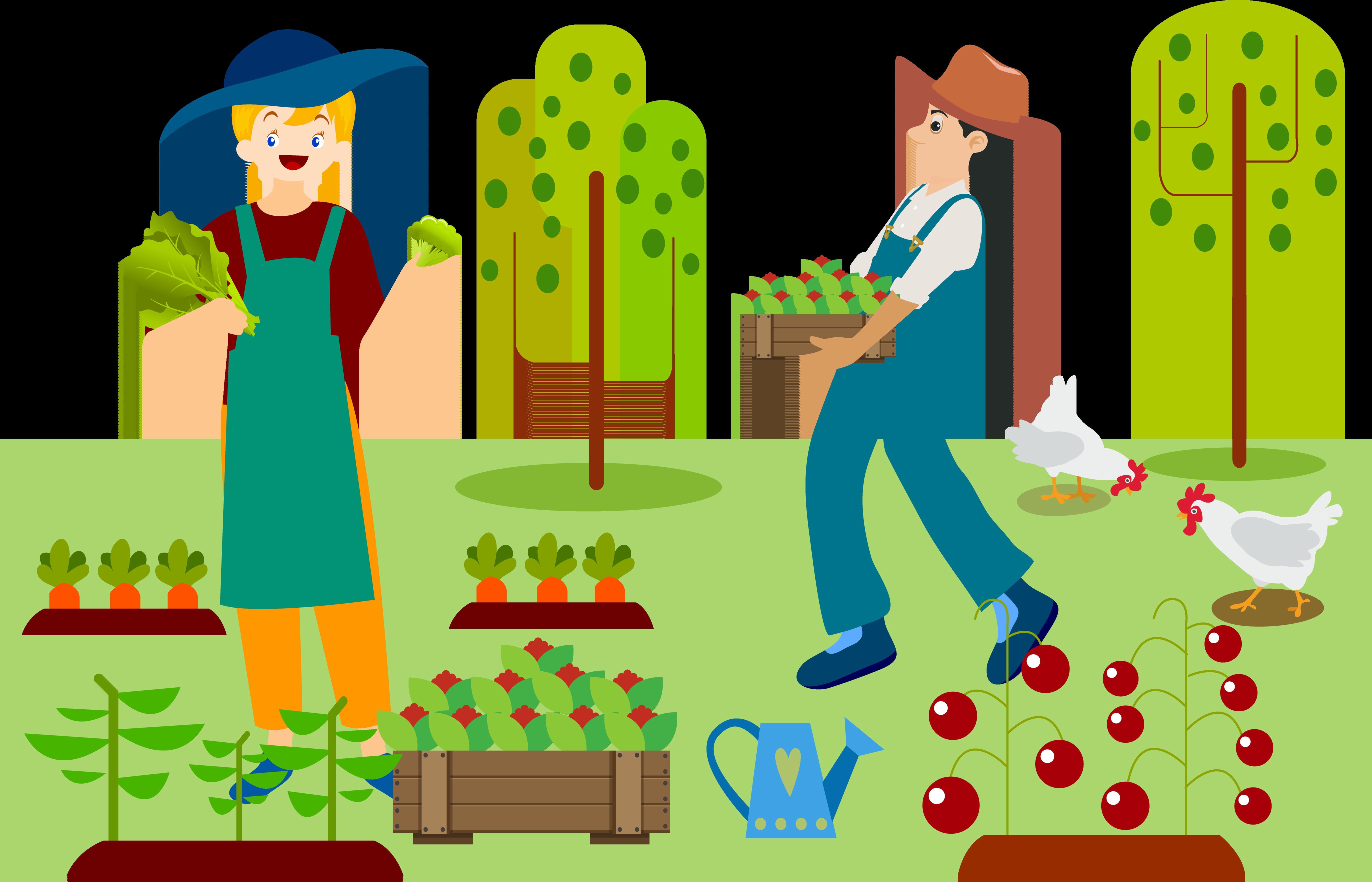 Farming clipart organic farming, Farming organic farming.