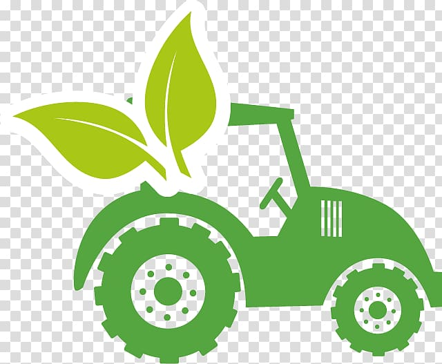 Green tractor illustration, Farm Agriculture Tractor.