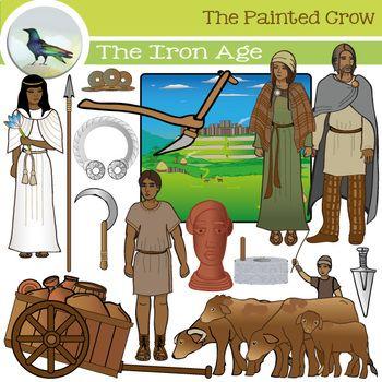 Iron Age Clip Art Set.