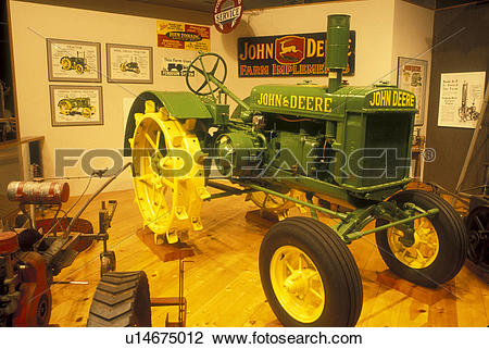 Stock Photo of South Dakota, John Deere tractor display at the.