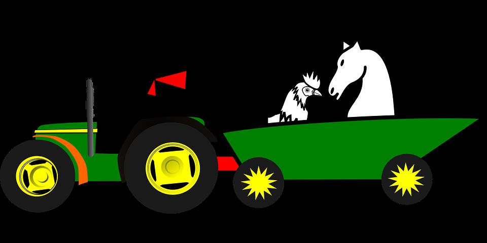 John Deere Ox Tractor Agriculture Clip art.