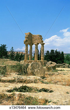 Stock Photo of The Temple of Castor and Pollux at Agrigento.