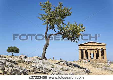 Stock Images of concordia temple in agrigento x27223456.