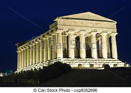 Stock Image of Agrigento Greek temple in Sicily.