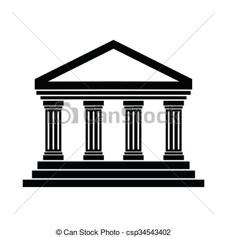 Vector Clipart of Temple of Concordia at Agrigento, Italy icon in.
