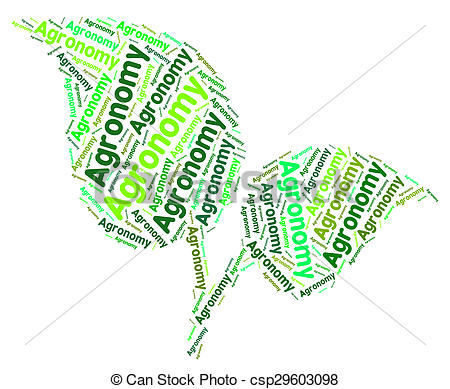 Stock Illustration of Agronomy Word Shows Cultivates Farmland And.