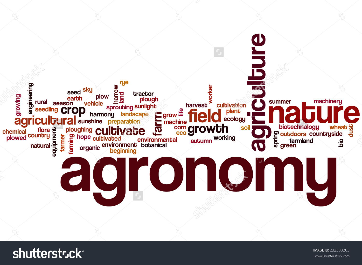 Agronomy Word Cloud Concept Stock Illustration 232583203.