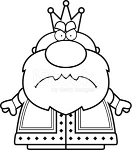 Cartoon Angry King Clipart Image.