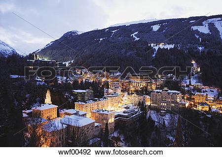 Stock Photo of Austria, Salzburger Land, Gastein Valley, Bad.