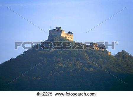 Stock Image of Aggstein Castle in Lower Austria thk2275.