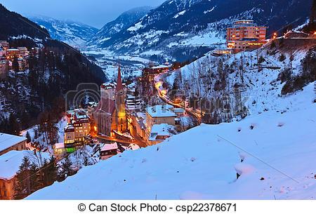 Picture of Mountains ski resort Bad Gastein Austria.