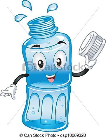 Vector Illustration of Bottled Water Mascot.