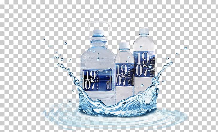 Agua embotellada botellas de agua artesano acuífero cristal.