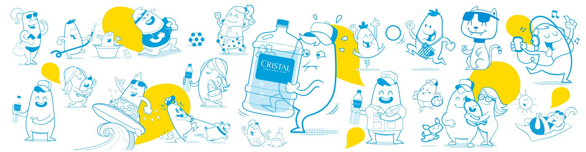 Agua Cristal.