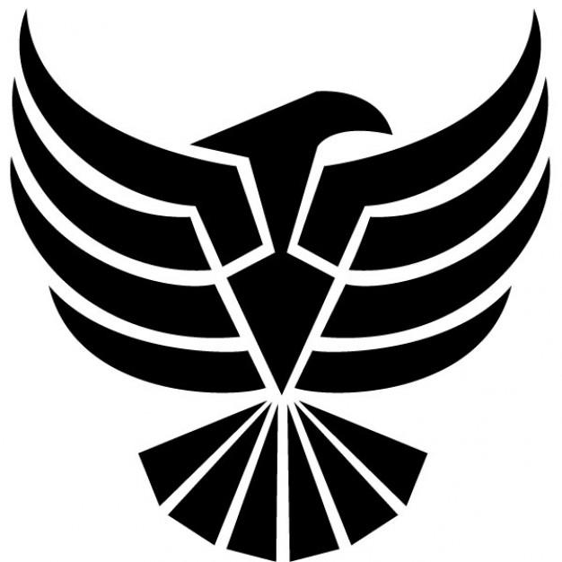 Negro águila clip art ilustración vectorial.
