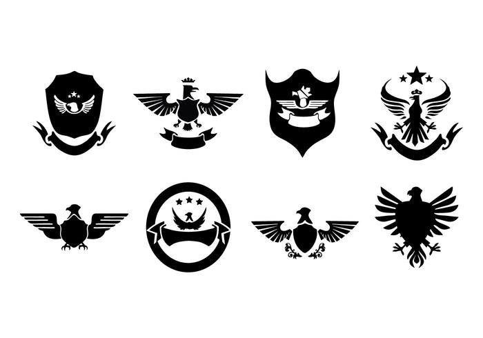 Free Eagle Badges And Logo Collection Vector.
