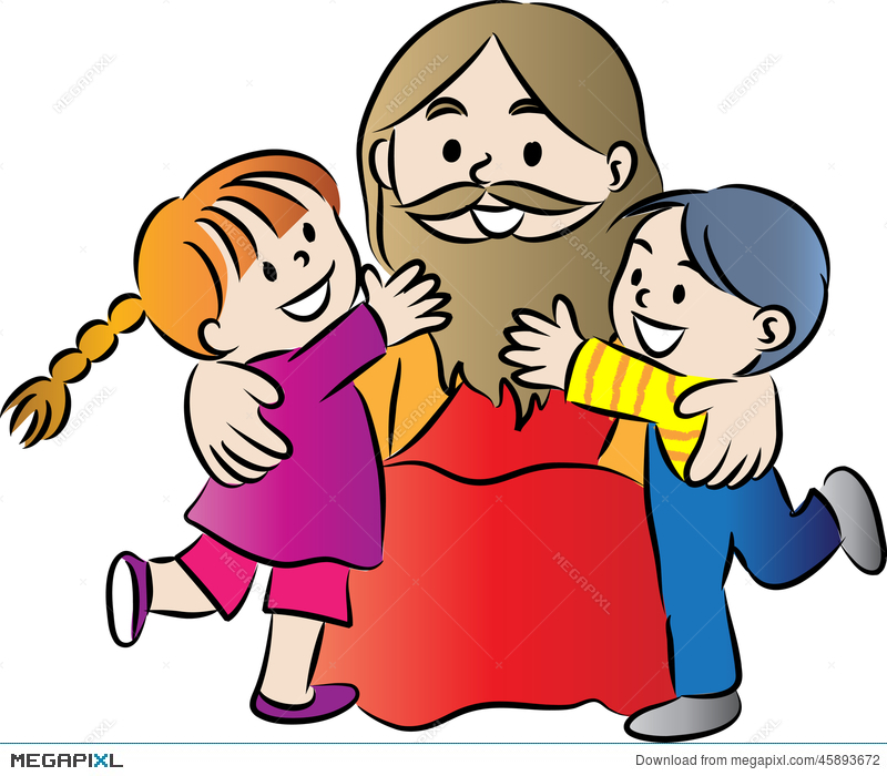Jesus And Kids Illustration 45893672.