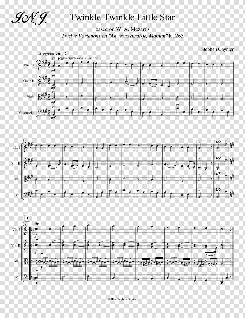 Paper Sheet Music Line, twinkle twinkle little star.