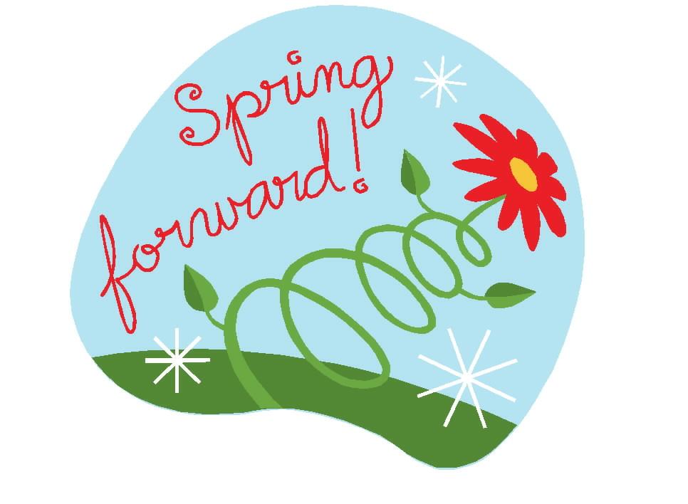 Spring Forward Clipart.