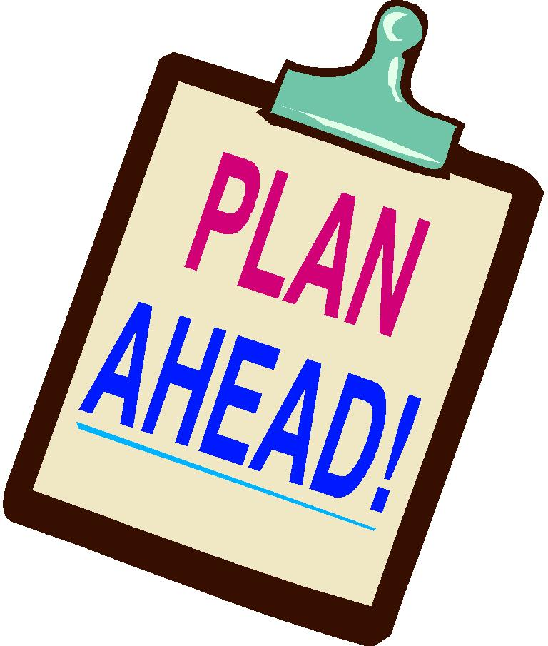 Plan ahead clip art.