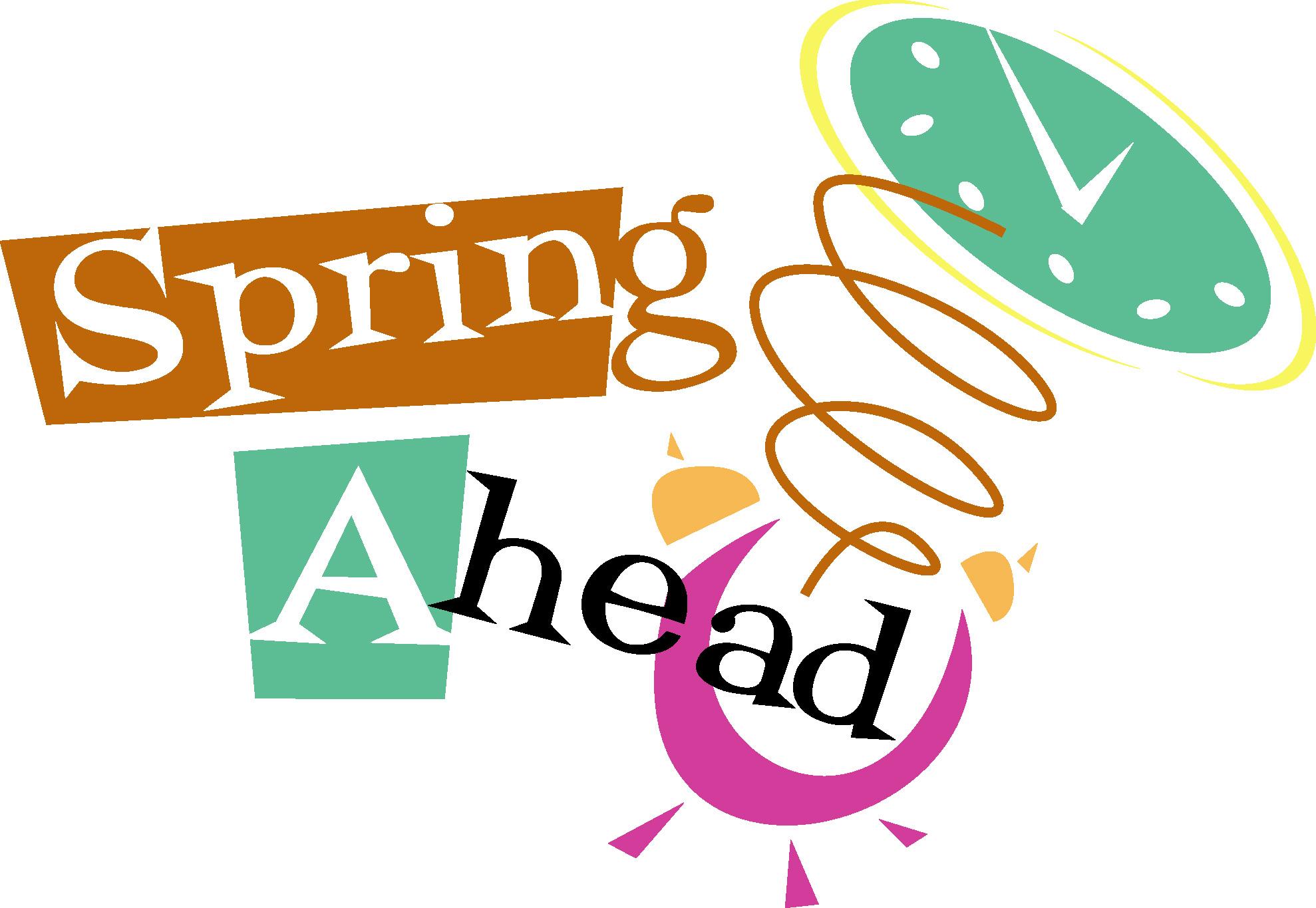 Spring ahead clip art.