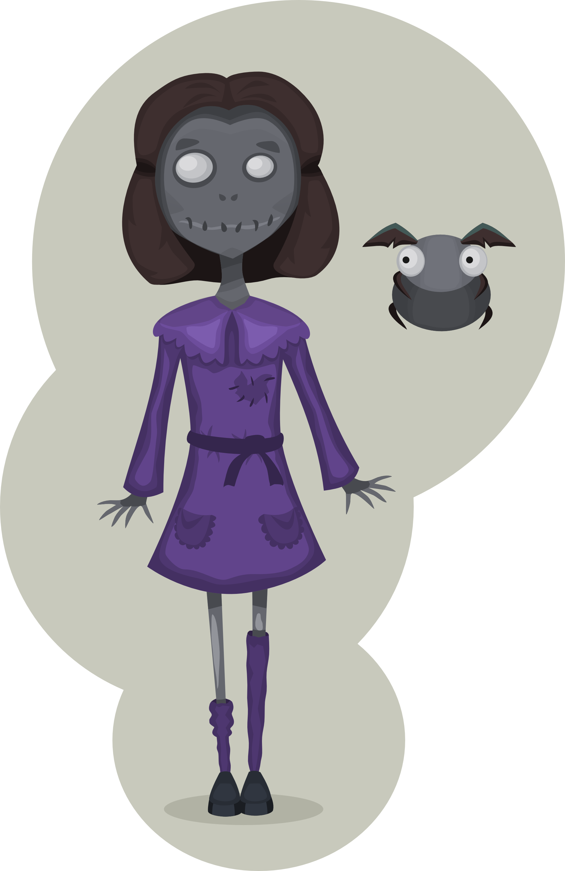 clipartist.net » Clip Art » Scary Girl Zombie Ah Ninniah.