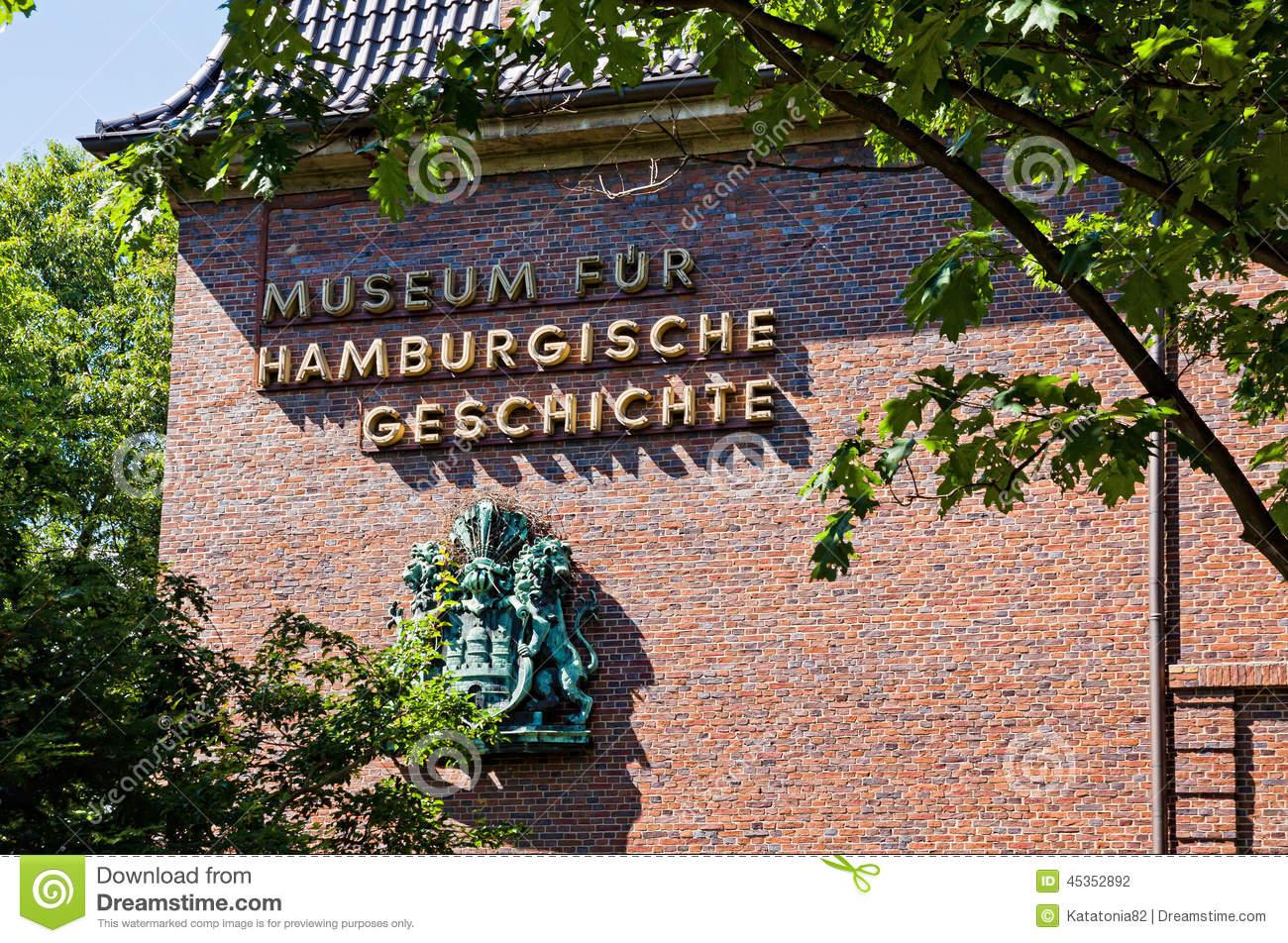 The Hamburg Museum, Germany Stock Photo.