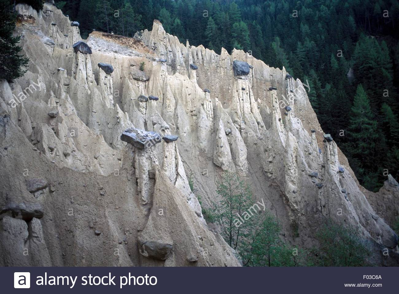 Earth Pyramids In Perca, Ahrntal Valley, Trentino.
