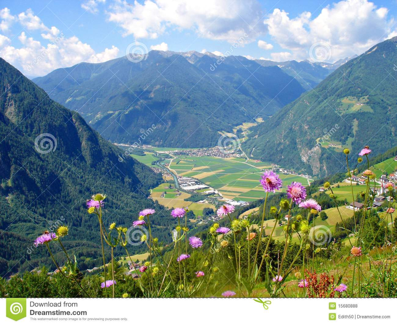 View Of The Valley Tauferer Ahrntal Royalty Free Stock Photos.