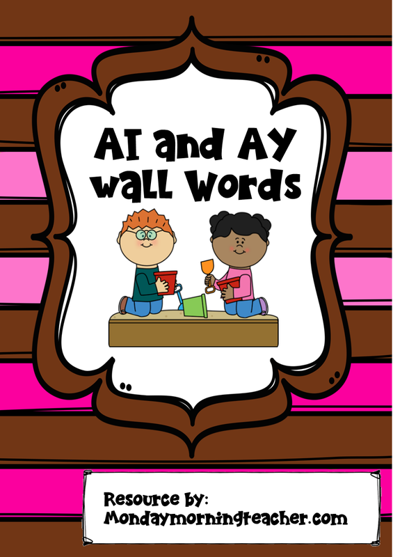 AI and AY wall Words.