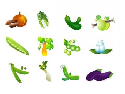 Vegetable clip art of four free vector in adobe illustrator ai.
