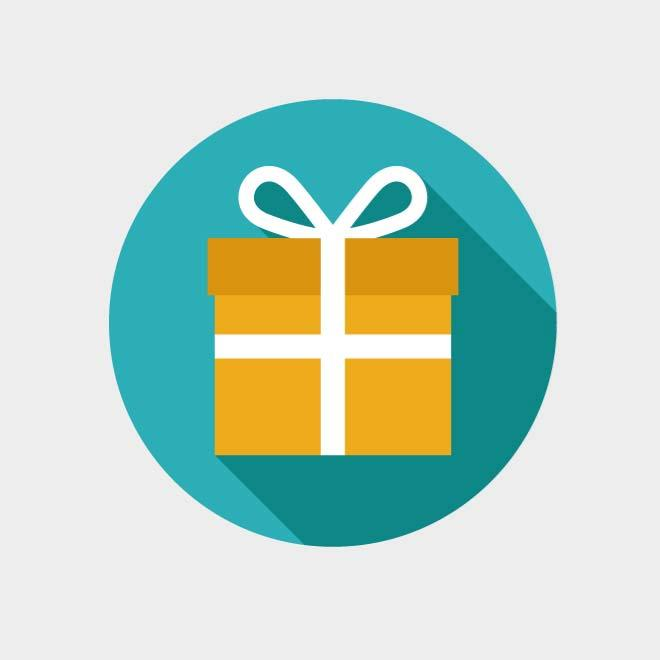 GIFT ICON VECTOR CLIP ART GRAPHICS.ai, vector images.
