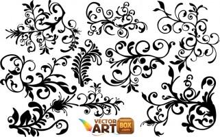 Floral clip art free vector in adobe illustrator ai 2.