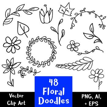 48 Floral Doodles.