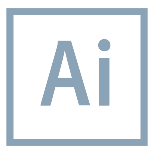 Adobe illustrator ai icon.