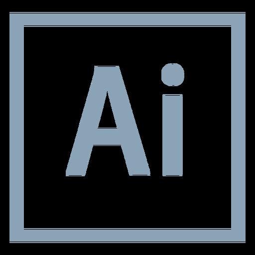 Adobe illustrator ai icon.