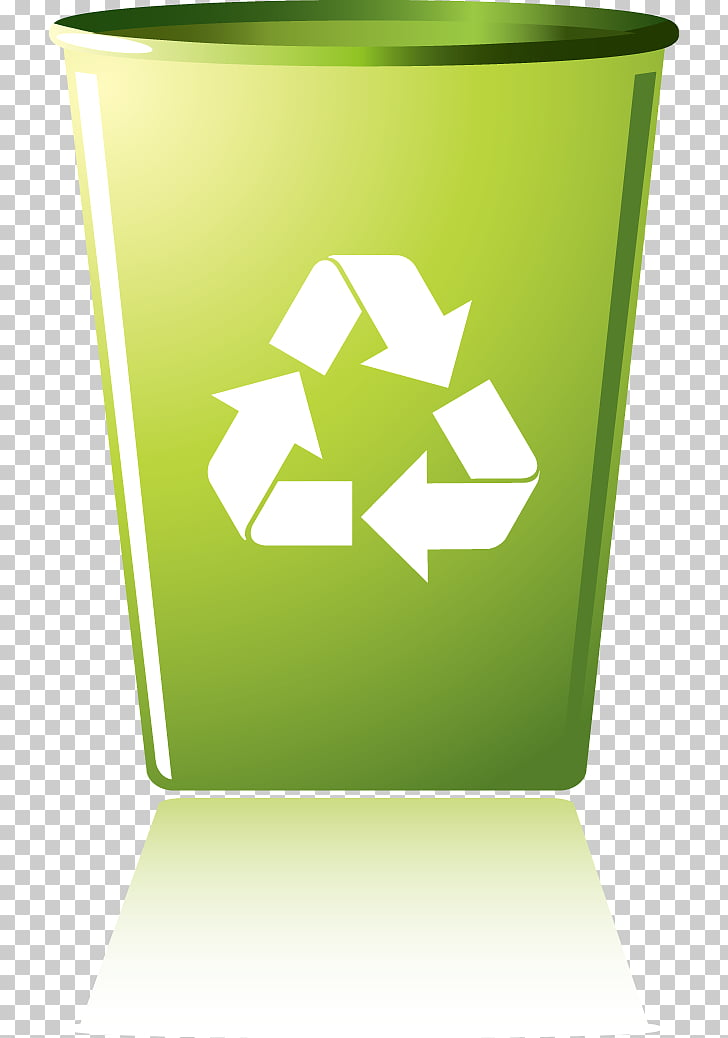 Recycling symbol Recycling bin Waste container, Green Design.