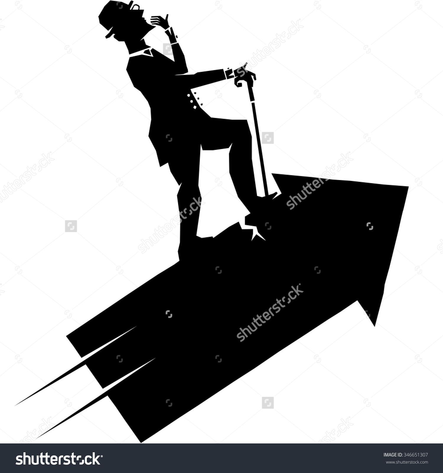 Wrong Direction Arrow Banksy Jr Artist Stock Illustration.