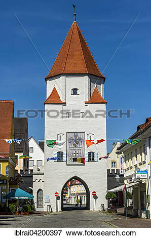 Picture of Medieval Unteres Tor or Lower Gate, Aichach, Swabia.