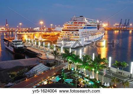 Stock Photo of Cruise ship Aida Bella in Las Palmas, Gran Canaria.