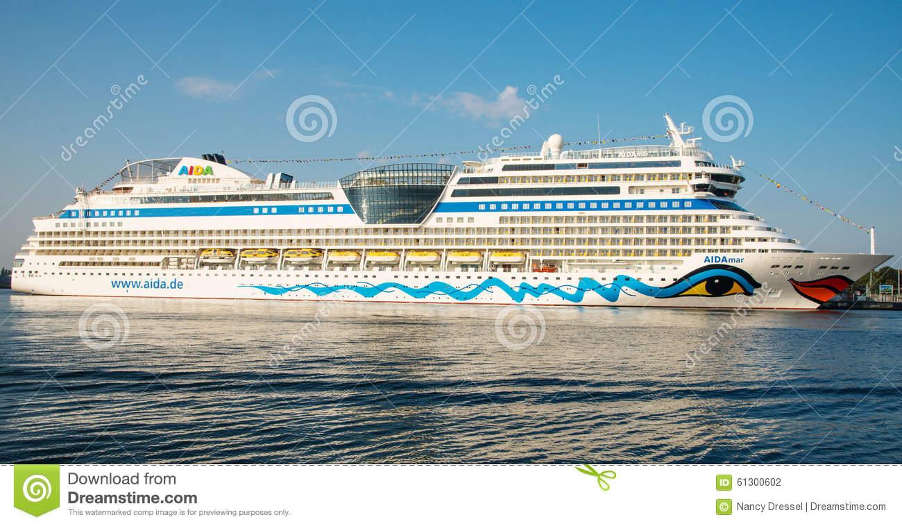 Aida Mar Cruise Ship Editorial Photography.