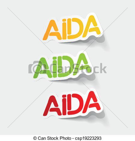 EPS Vectors of realistic design element: AIDA csp19223293.