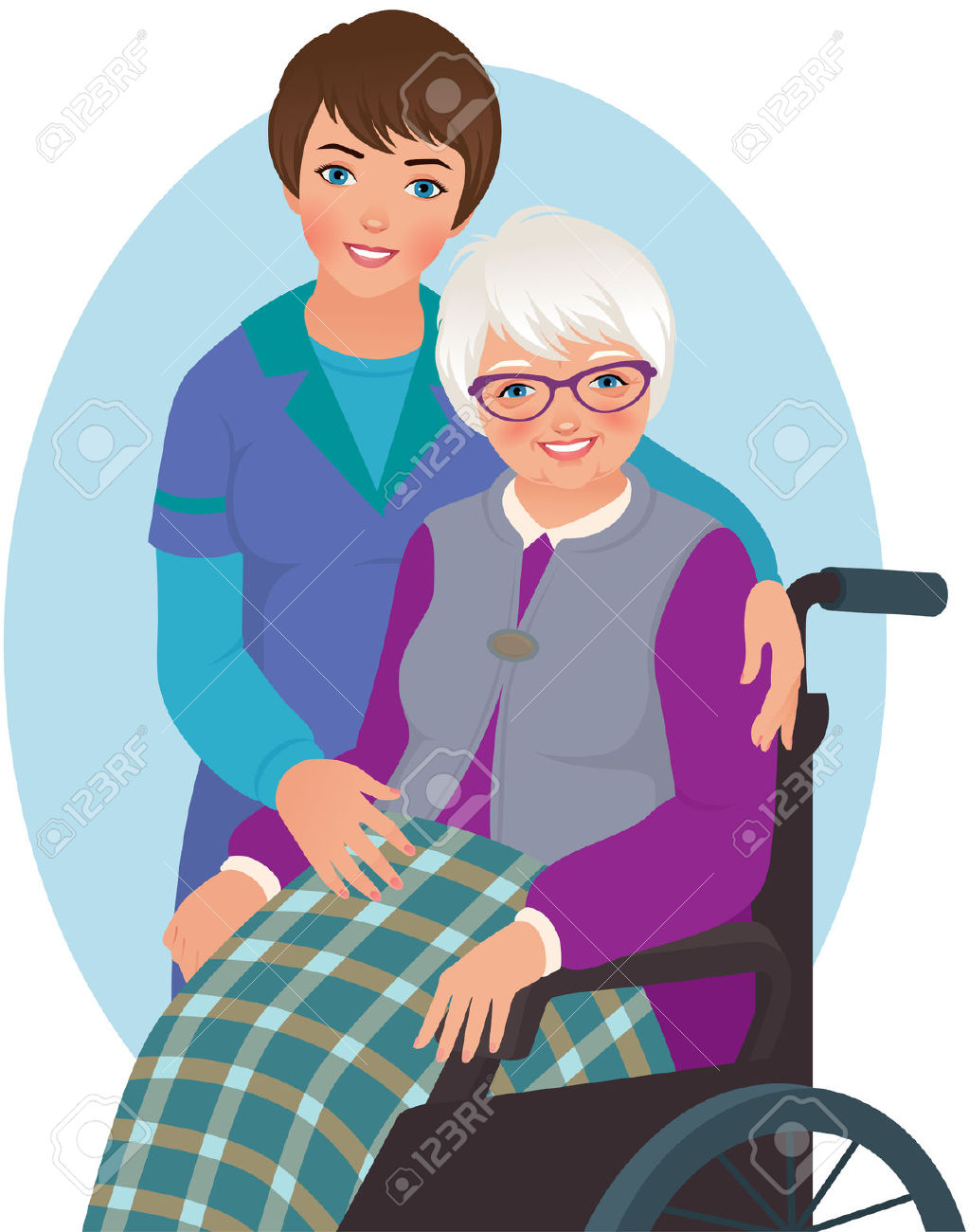 Clipart aide personnes agees.