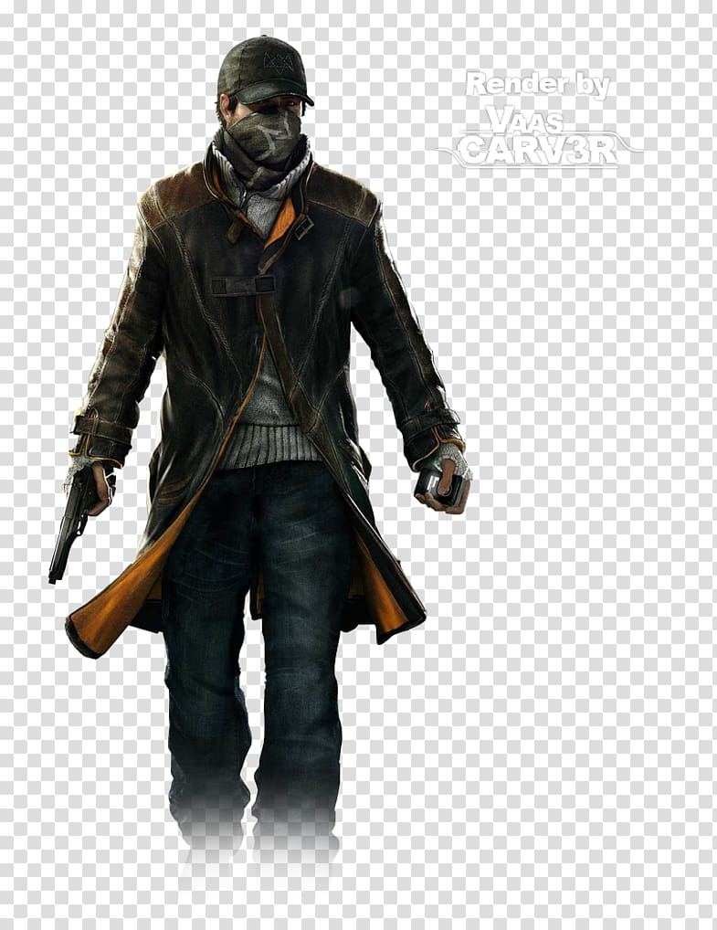 Watch Dogs 2 Aiden Pearce Coat Jacket, Hitman transparent.