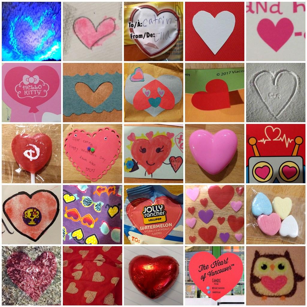 Hearts mosaic.