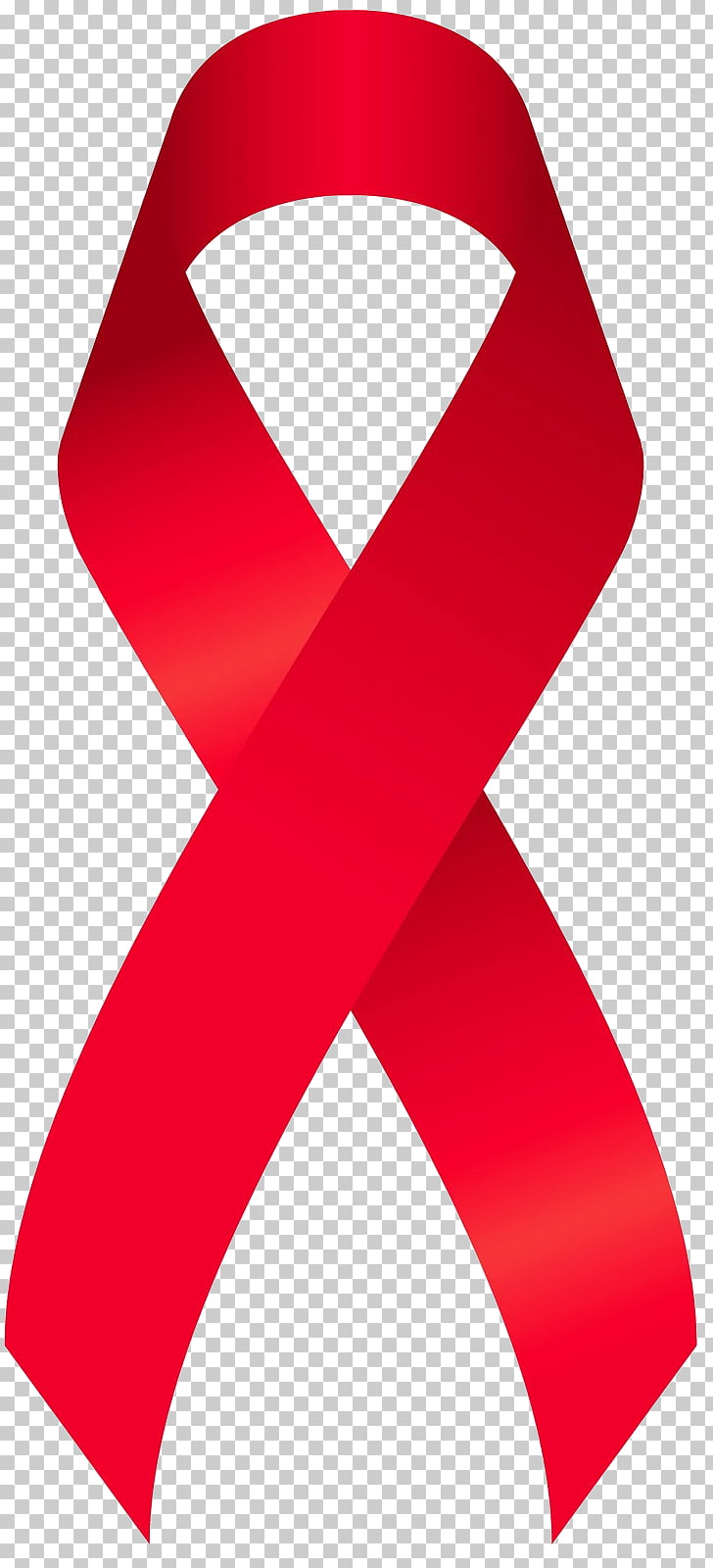Red Ribbon Week Awareness ribbon AIDS, watercolor ribbon PNG.