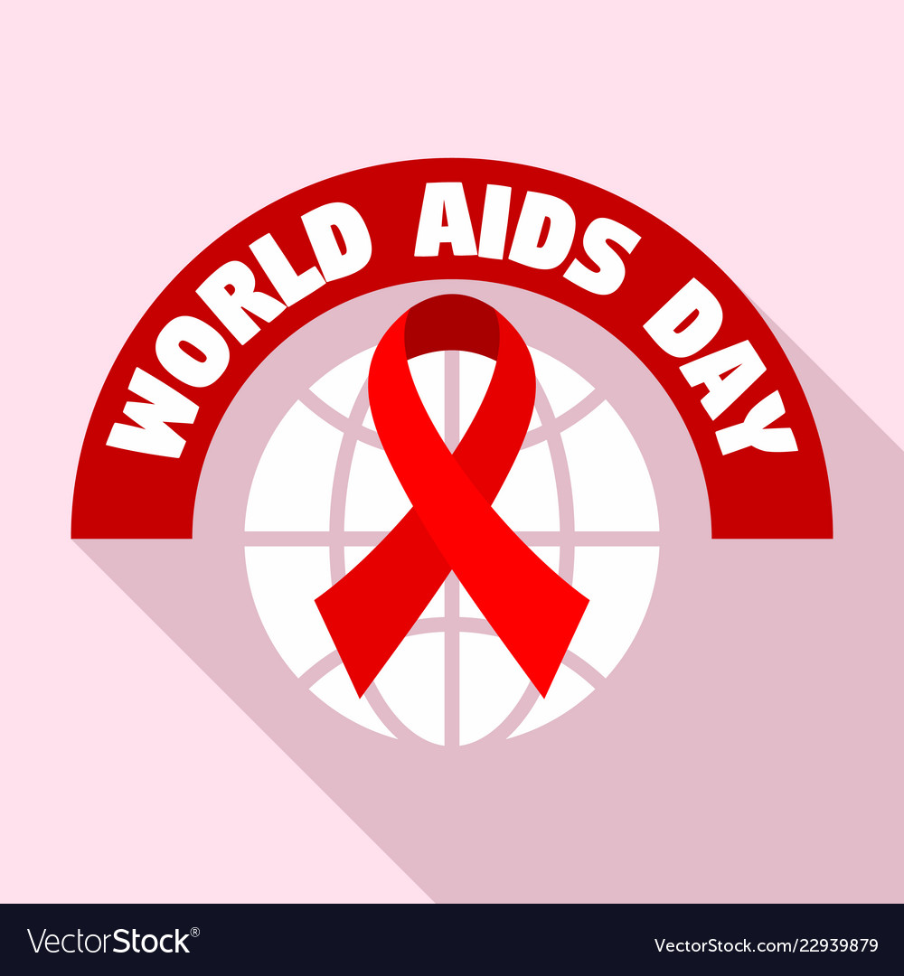 World aids day tolerance logo set flat style.