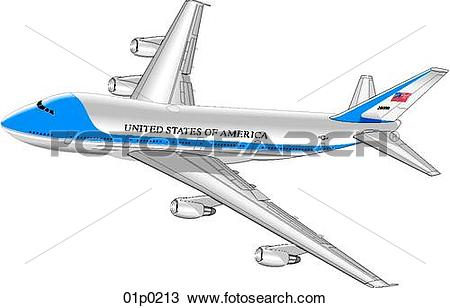 Clipart of air force one 01p0213.