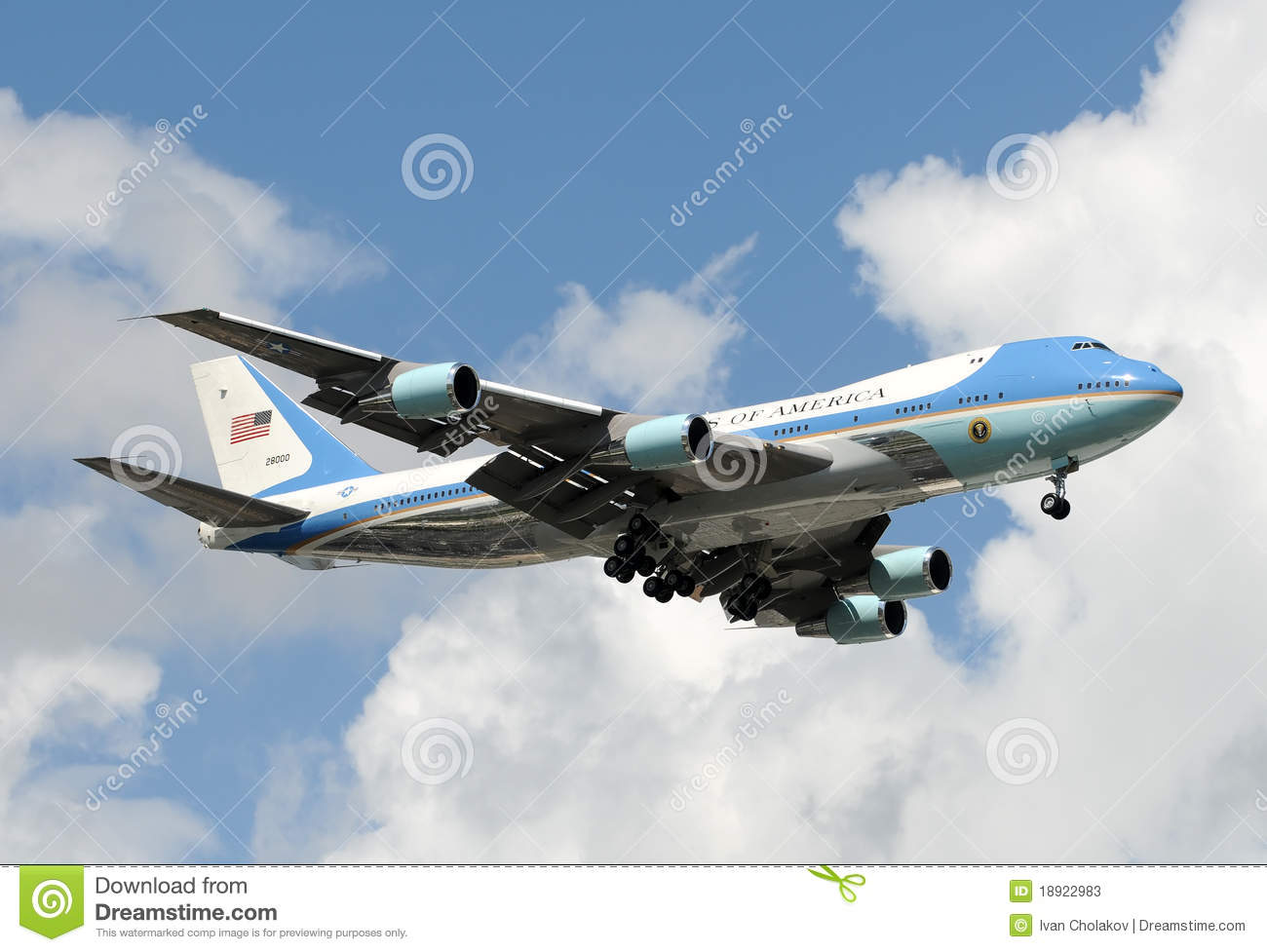 Air Force One Editorial Stock Image.