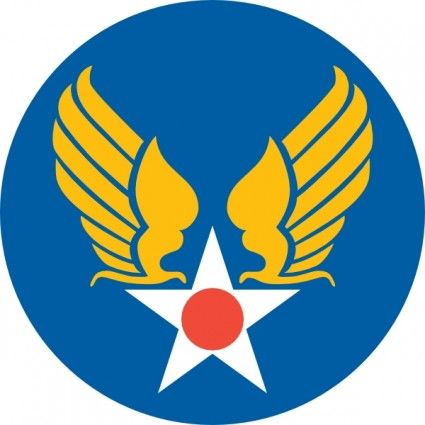 Us Army Air Corps Shield clip art.